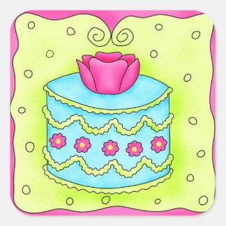 Turquoise Rose Cake Sticker