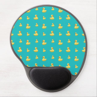 Turquoise rubber duck pattern gel mouse pad