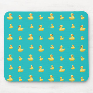Turquoise rubber duck pattern mouse pad