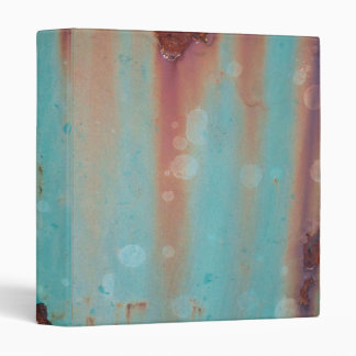 Turquoise Rusted Metal Binder