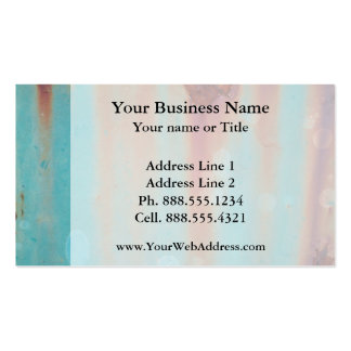 Turquoise Rusted Metal Double-Sided Standard Business Cards (Pack Of 100)