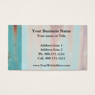 Turquoise Rusted Metal Business Card