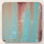 Turquoise Rusted Metal Coasters