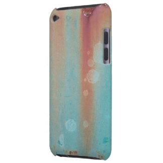Turquoise Rusted Metal iPod Case-Mate Cases