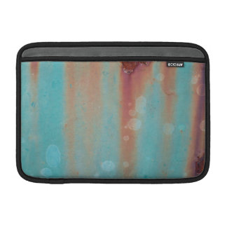 Turquoise Rusted Metal Sleeve For MacBook Air