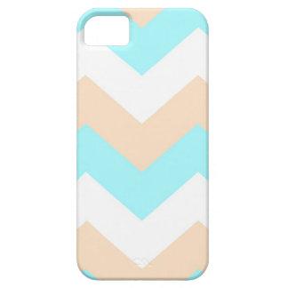 Turquoise Sand & White chevron iPhone 5 case
