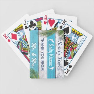 Turquoise Sandy Toes Salty Kisses Deck of Cards