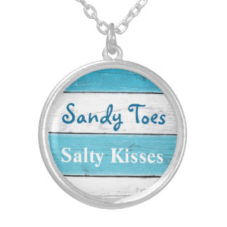 Turquoise Sandy Toes Salty Kisses Necklace