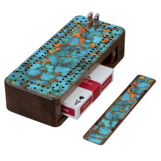 """Turquoise Sapele Cribbage Board"""