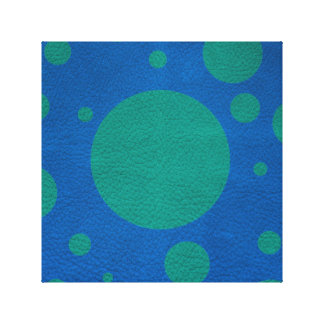 Turquoise Scattered Spots on Lapis Leather Texture Canvas Print