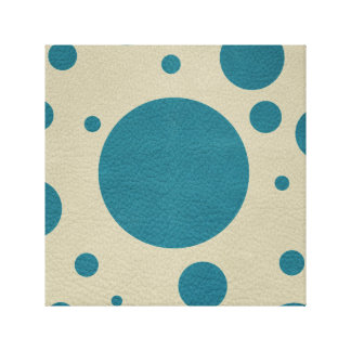 Turquoise Scattered Spots on Stone Leather Texture Canvas Print