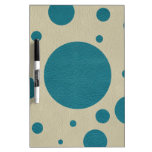 Turquoise Scattered Spots on Stone Leather Texture Dry-Erase Whiteboard