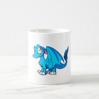 Turquoise SD Furry Dragon Coffee Mug