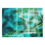 Turquoise Sea Abstract Blank Card