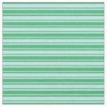 [ Thumbnail: Turquoise & Sea Green Stripes Fabric ]