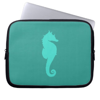 Turquoise Sea Horse Computer Sleeves