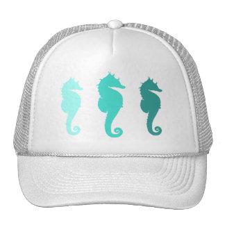 Turquoise Sea Horse Herd Hat