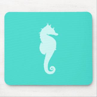 Turquoise Sea Horse Mouse Pad