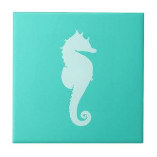 Turquoise Sea Horse Ceramic Tiles