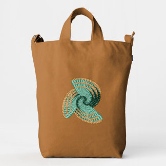 Turquoise Sea Shell Abstract Tote Bag