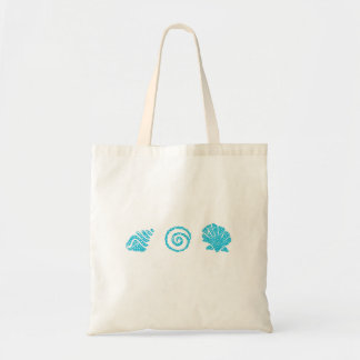 Turquoise Sea Shells Tote Bag
