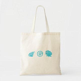 Turquoise Sea Shells Tote Bag