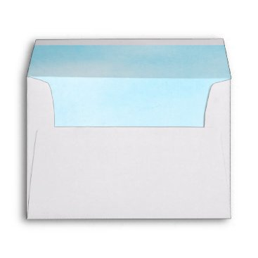 Beach Themed Turquoise Sea Sky Wedding Envelope