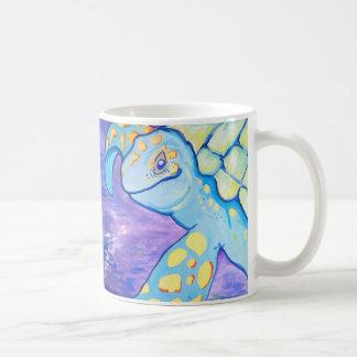 Turquoise Sea Turtle Coffee Mugs