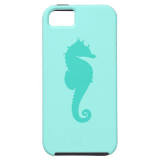 Turquoise Seahorse 2 iPhone 5 Cases