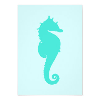 Turquoise Seahorse Card