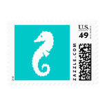 Turquoise seahorse stamps