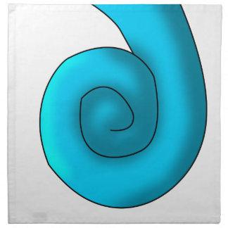 Turquoise Seahorse Tail Napkin