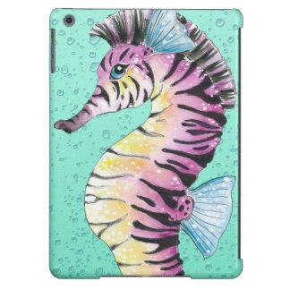 Turquoise Seahorse Zebra Case For iPad Air