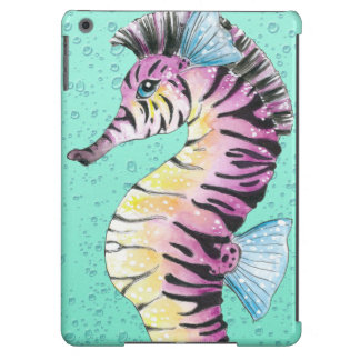 Turquoise Seahorse Zebra Case For iPad Air