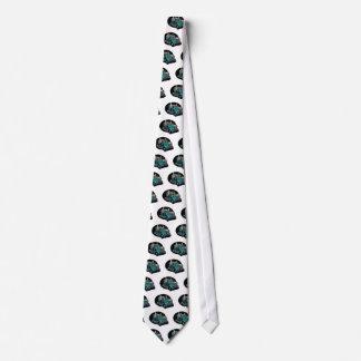 Turquoise Semi Truck Neck Tie