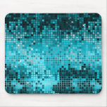 Turquoise Sequins Look Disco Mirrors Bling Mousepad