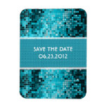 Turquoise Sequins Look Disco Mirrors Bling Vinyl Magnets