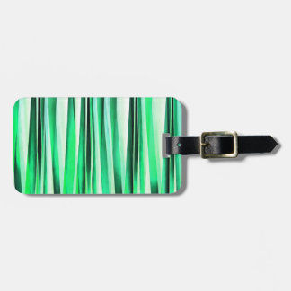 Turquoise Serenity Stripy Pattern Bag Tag