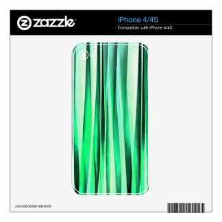 Turquoise Serenity Stripy Pattern Skin For The iPhone 4S