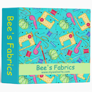 Turquoise Sewing Project Personlizable Album Binder