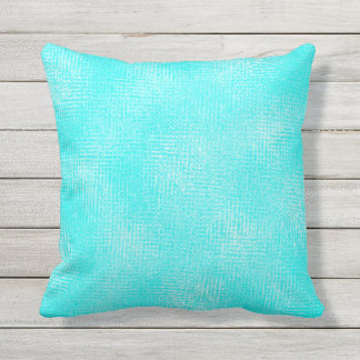 Turquoise Shade Variation Outdoor Pillow 16x16