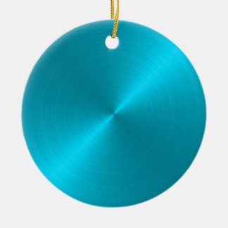 Turquoise Sheen Christmas Personalized Ornament