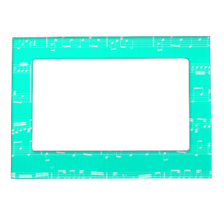 Turquoise Sheet Music Magnetic Picture Frame
