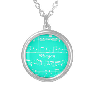 Turquoise Sheet Music Necklace