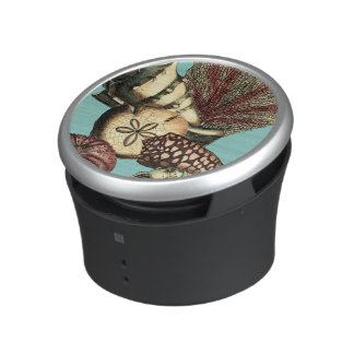 Turquoise Shell and Red Coral Collection Speaker