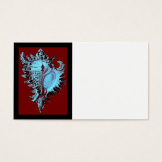 Turquoise Shell on Deep Red Business Card
