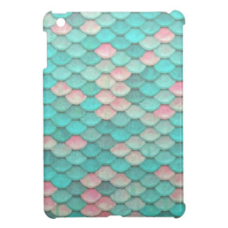 Turquoise Shiny Fish Scales Effect Pattern Cover For The iPad Mini