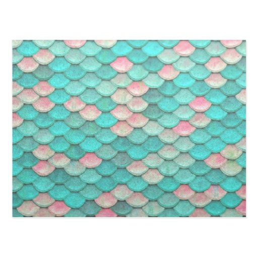Turquoise shiny fish scales effect pattern postcard zazzle for Get fish scale