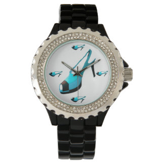 Turquoise Shoe Print Watch