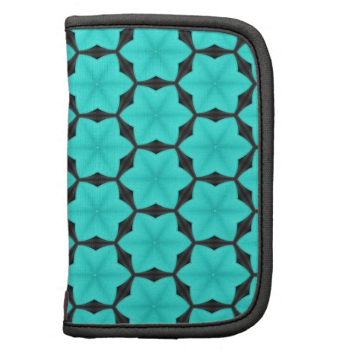 Turquoise Six Point Star Pattern Organizers